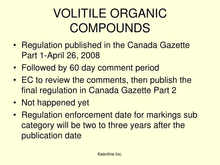 VOLITILE ORGANIC COMPOUNDS