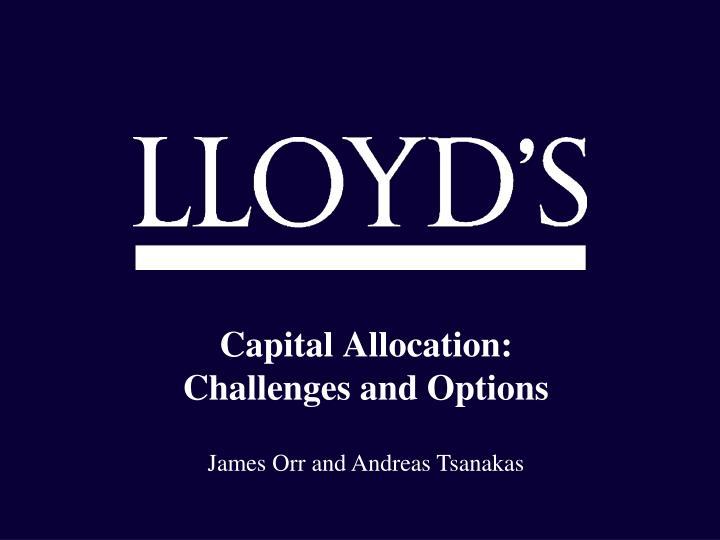Capital Allocation:
