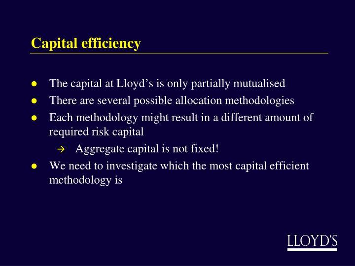 Capital efficiency