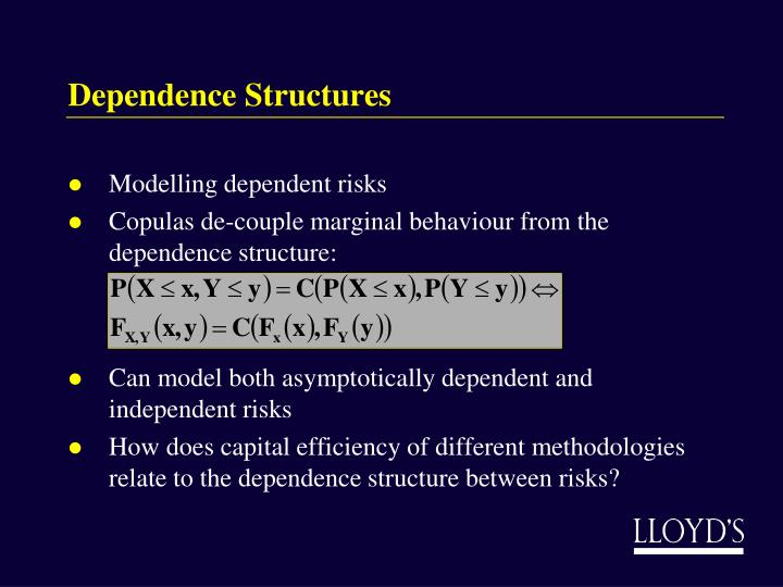 Dependence Structures