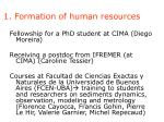 1 formation of human resources