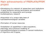 main achievements of freplata ffem project