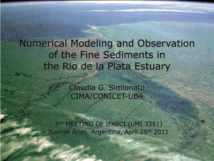 Numerical Modeling and Observation of the Fine Sediments in