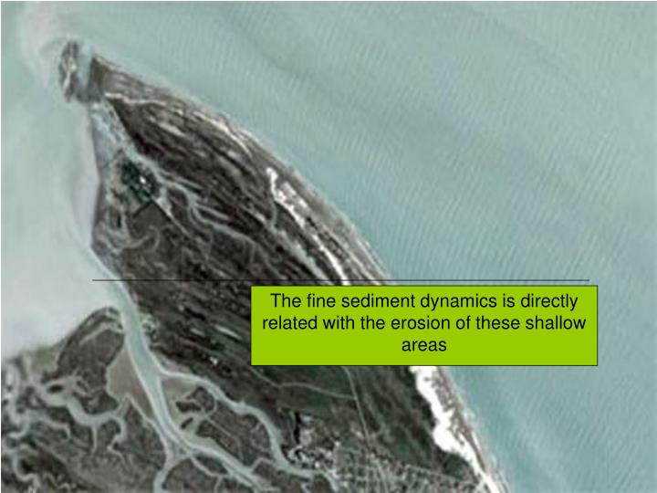 The fine sediment dynamics is directly related with the erosion of these shallow areas