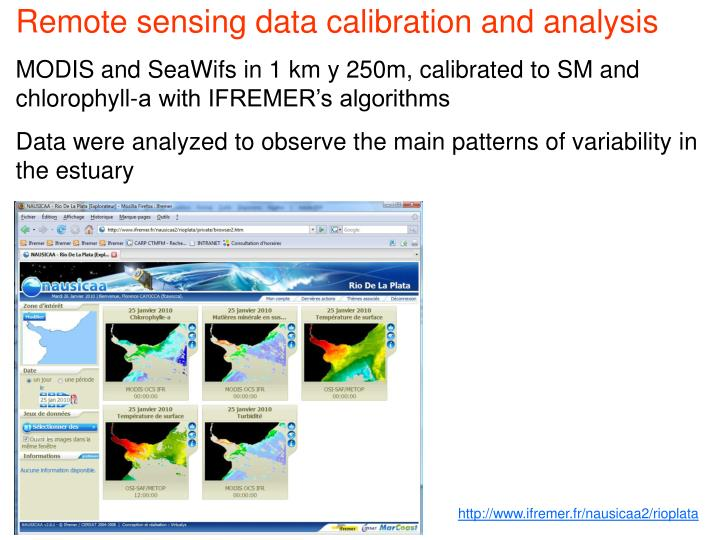 Remote sensing data calibration and analysis