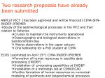 two research proposals have already been submitted