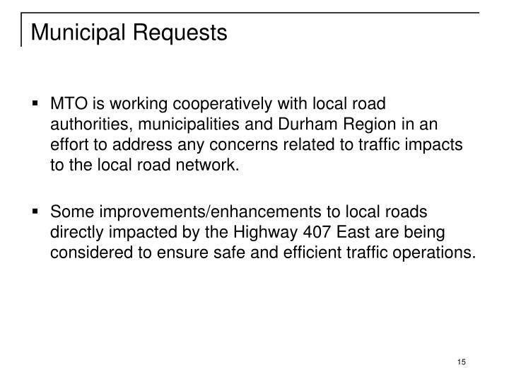 Municipal Requests