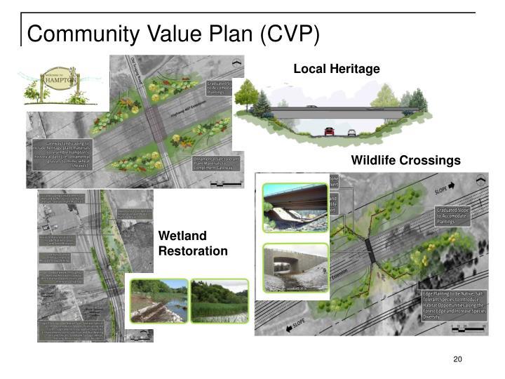 Community Value Plan (CVP)