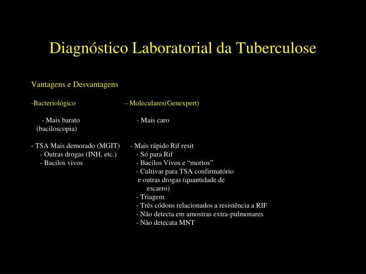 Diagnóstico Laboratorial da Tuberculose