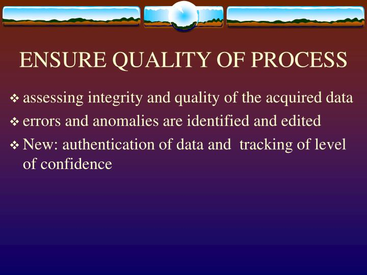 ENSURE QUALITY OF PROCESS