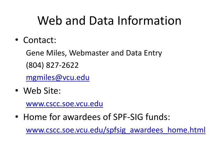 Web and Data Information