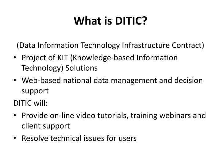 What is DITIC?