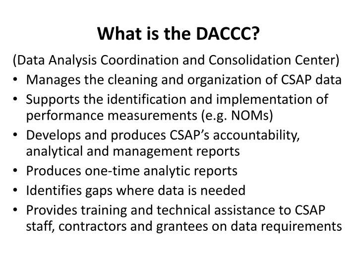 What is the DACCC?