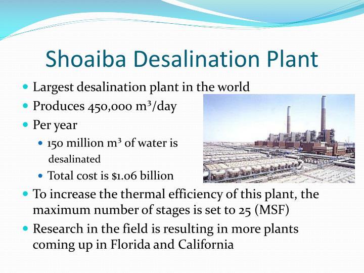 Shoaiba Desalination Plant