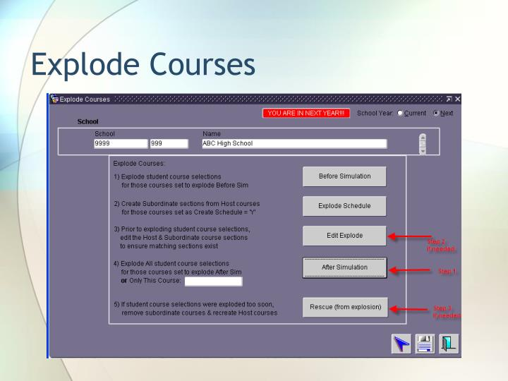Explode Courses