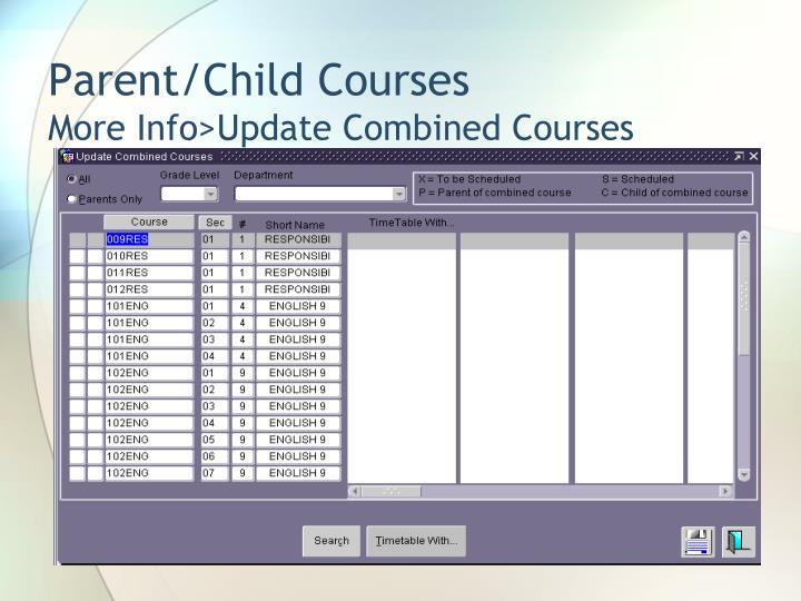 Parent/Child Courses