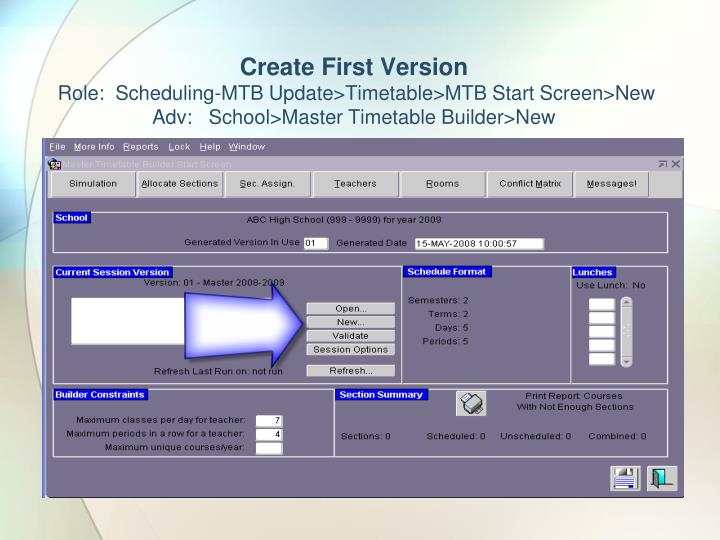 Create First Version