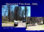 monument fire area mal