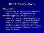 nepa considerations