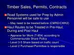 timber sales permits contracts
