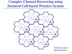 complex channel borrowing using sectored cell based wireless system