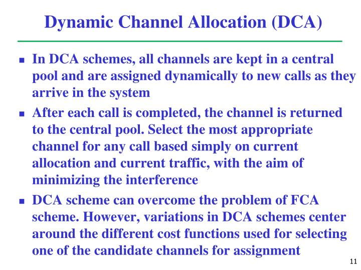 Dynamic Channel Allocation (DCA)