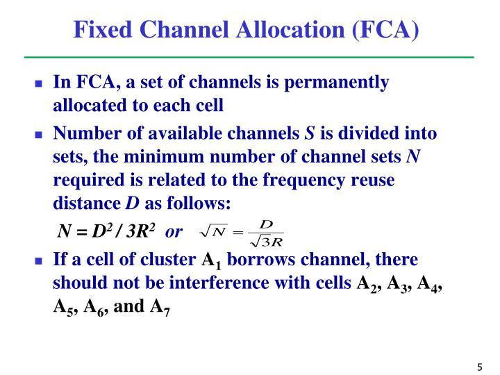 Fixed Channel Allocation (FCA)