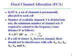 fixed channel allocation fca