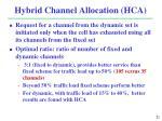 hybrid channel allocation hca1