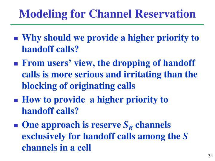 Modeling for Channel Reservation
