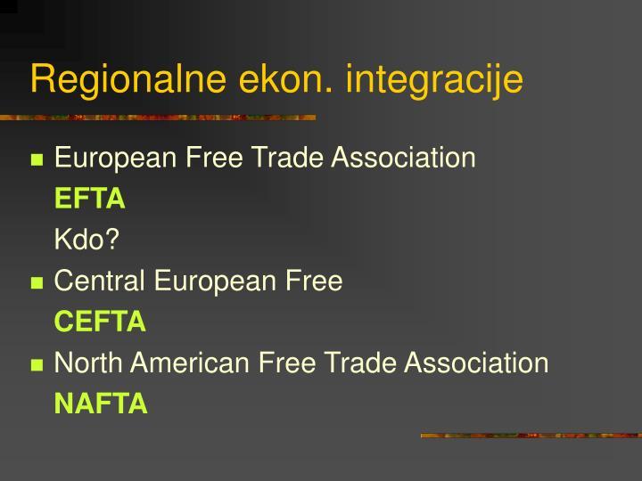 Regionalne ekon. integracije