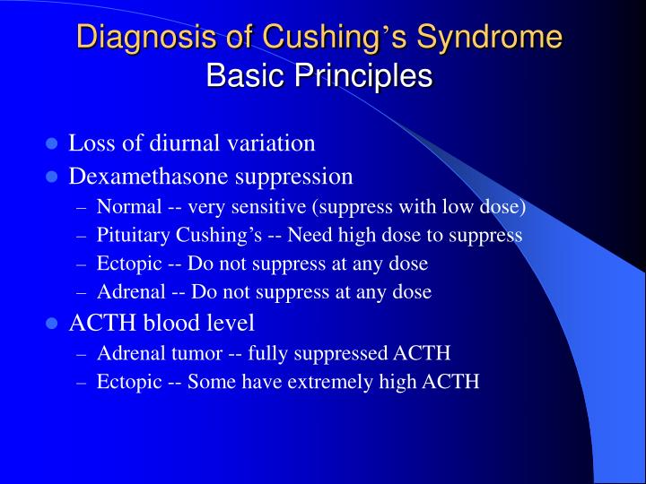 Diagnosis of Cushing