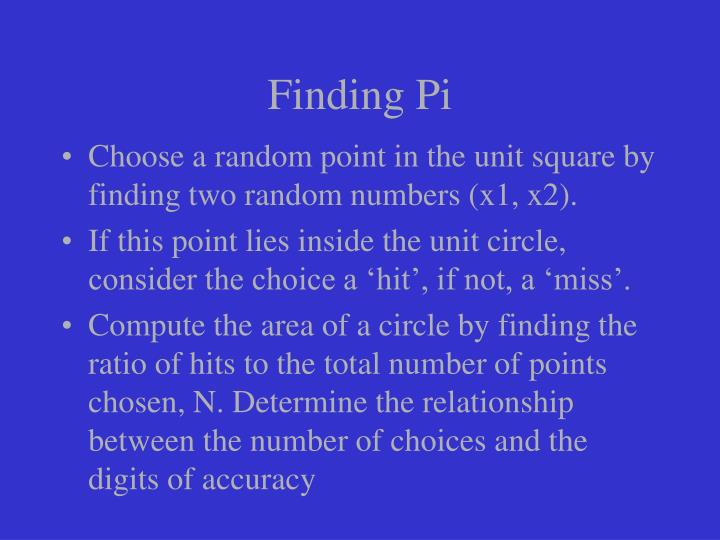Finding Pi