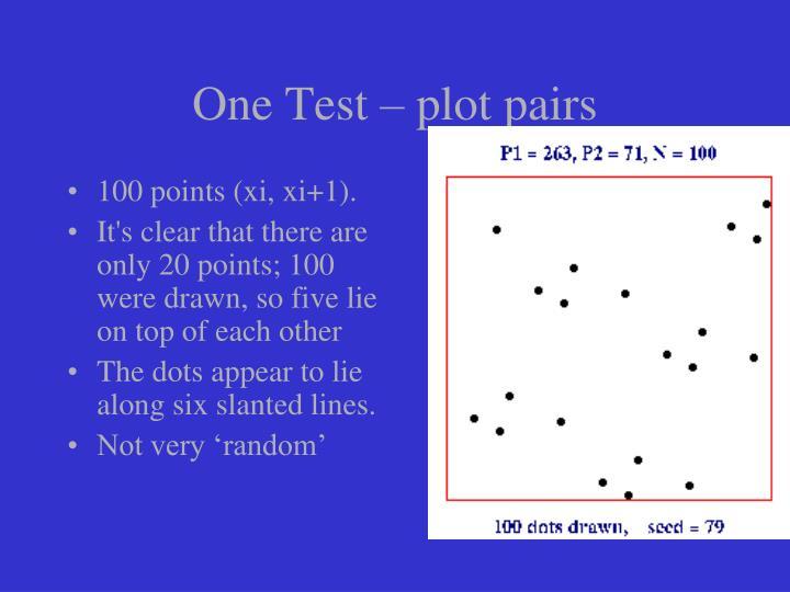 One Test – plot pairs