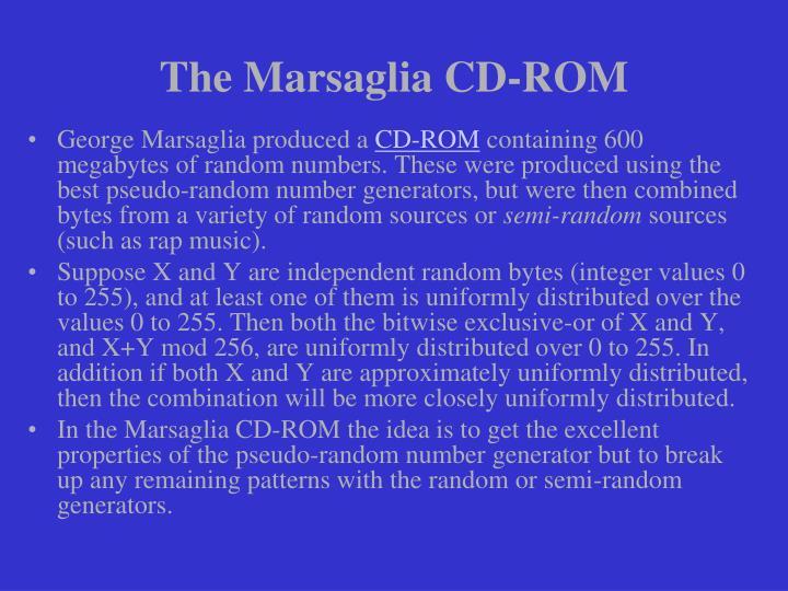 The Marsaglia CD-ROM