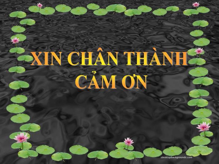 XIN CHÂN THÀNH