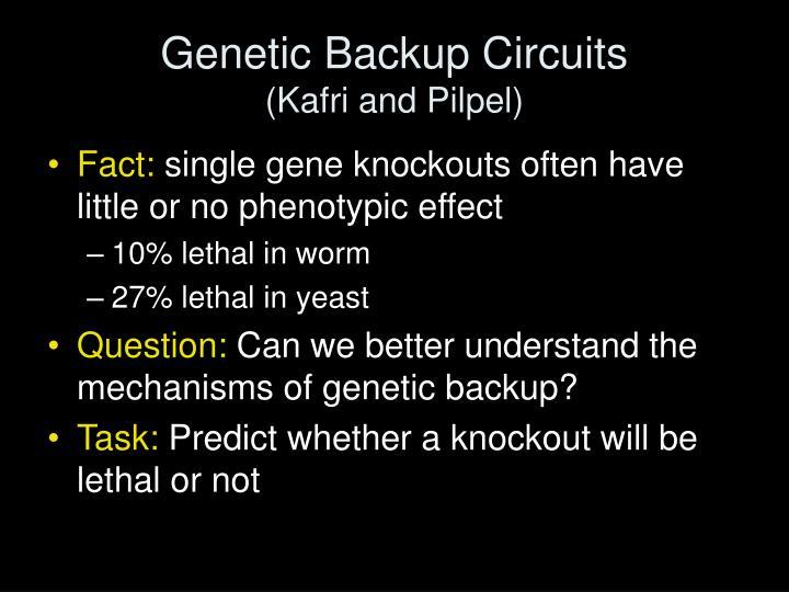 Genetic Backup Circuits
