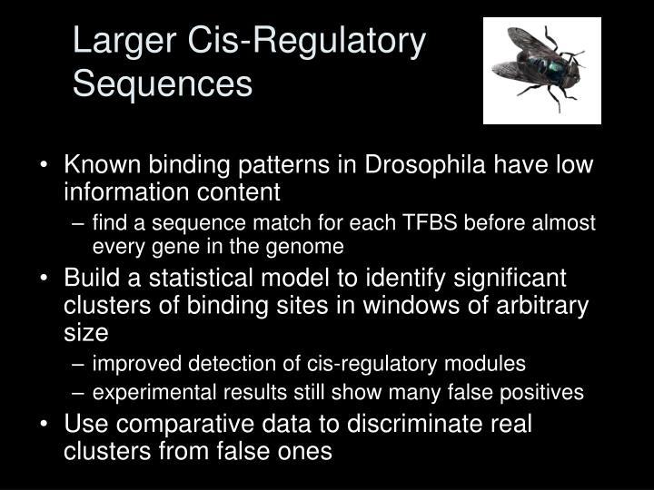 Larger Cis-Regulatory