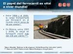 el papel del ferrocarril es vital a nivel mundial