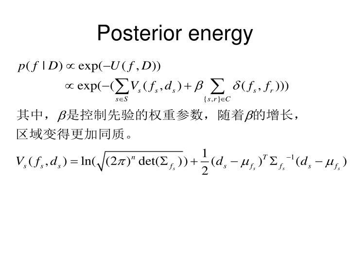 Posterior energy