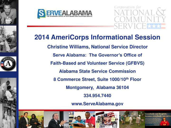 2014 AmeriCorps Informational Session