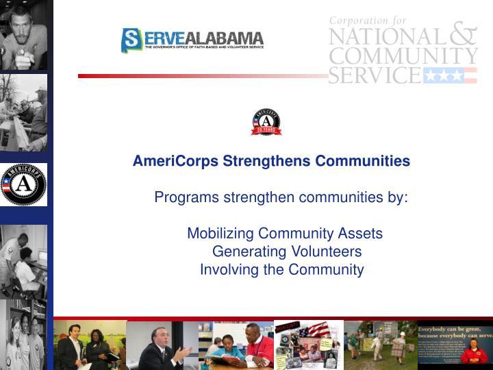 AmeriCorps Strengthens Communities