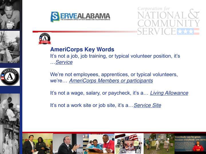 AmeriCorps Key Words