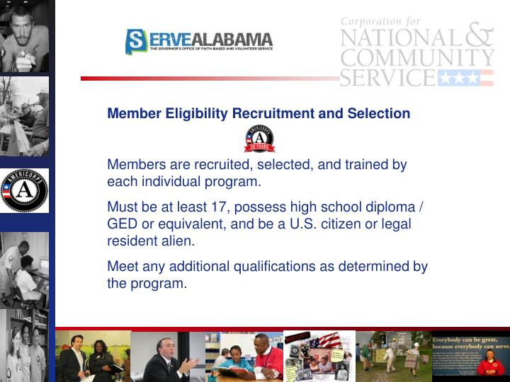 Member Eligibility Recruitment and Selection