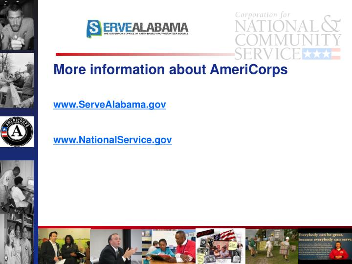 More information about AmeriCorps