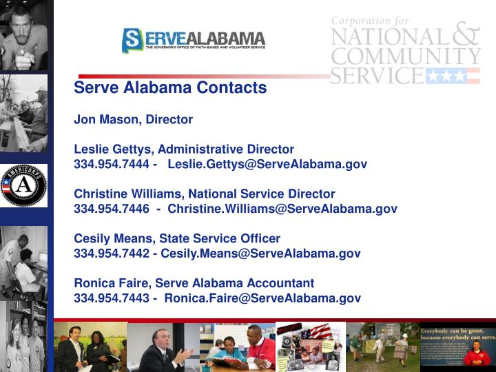 Serve Alabama Contacts