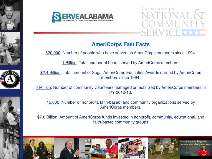 AmeriCorps Fast Facts