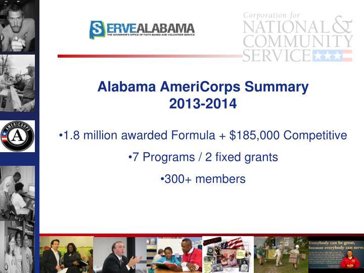 Alabama AmeriCorps Summary