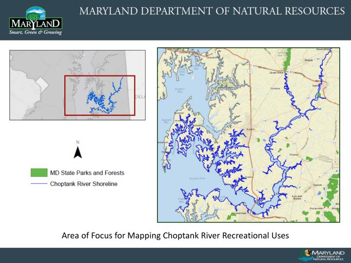 Area of Focus for Mapping Choptank River Recreational Uses