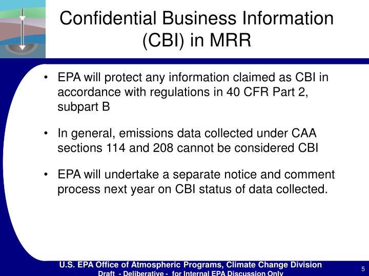 Confidential Business Information (CBI) in MRR